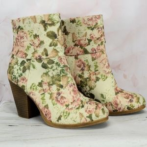 Rampage Floral Boots Vernan Size 10
